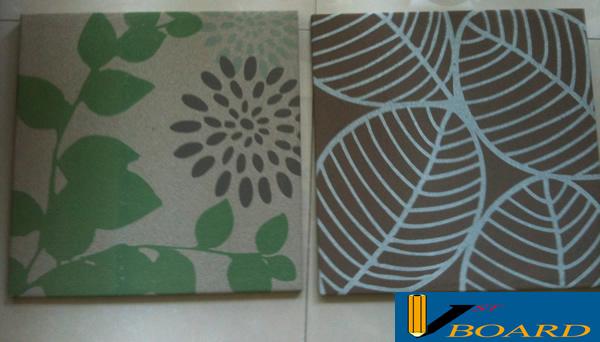 Frameless Fabric Pin Corkboard