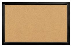 Black Wooden Frame Corkboard