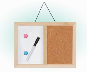 Dry Erase And Cork Combo Board
