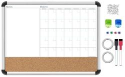 White And Cork Combo Board